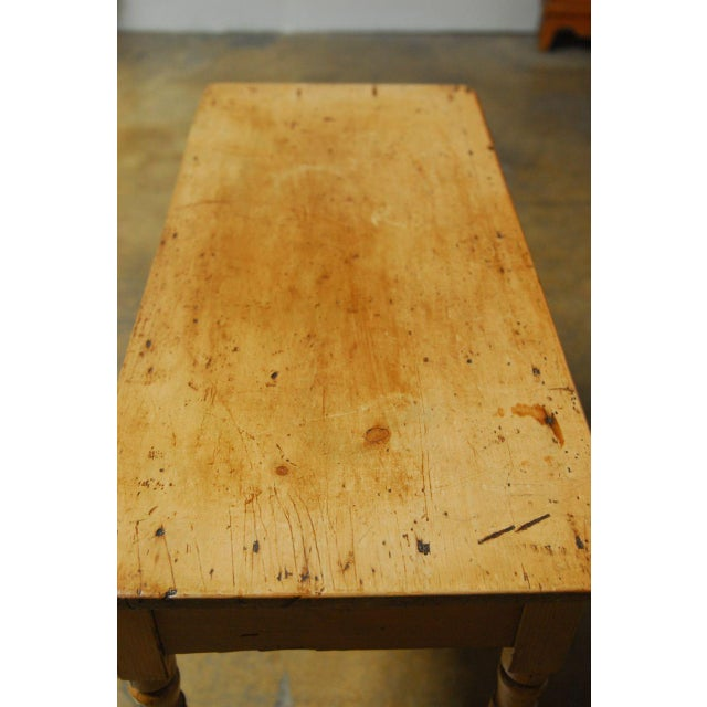 Brown 19th Century French Pine Console Table For Sale - Image 8 of 9