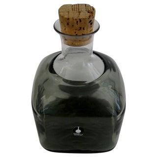 Vintage Swedish Glass Bottle For Sale