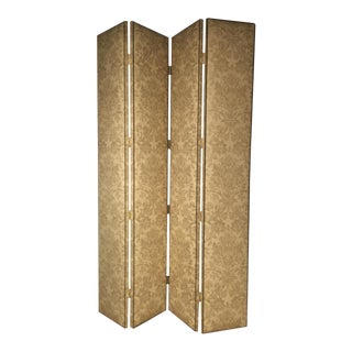 Hickory Chair 4 Panel Damask Screen Divider