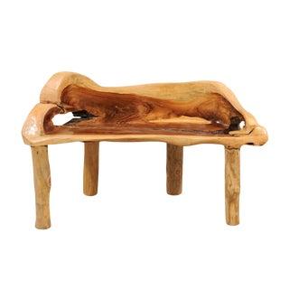 Petite Sized Teak Hardwood Bench For Sale