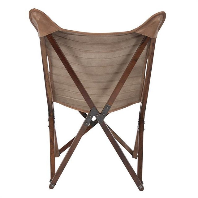 Mid-Century Modern Kenneth Ludwig Leather Sling Chair For Sale - Image 3 of 8