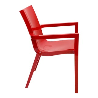 Christopher Pillet Deauville Red Armchair For Sale