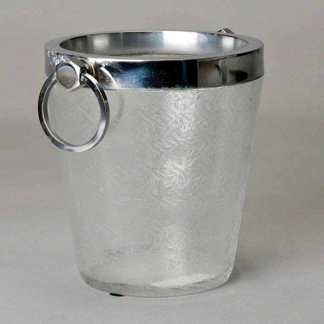 Art Deco Heavy Crystal Ice Bucket For Sale - Image 4 of 6