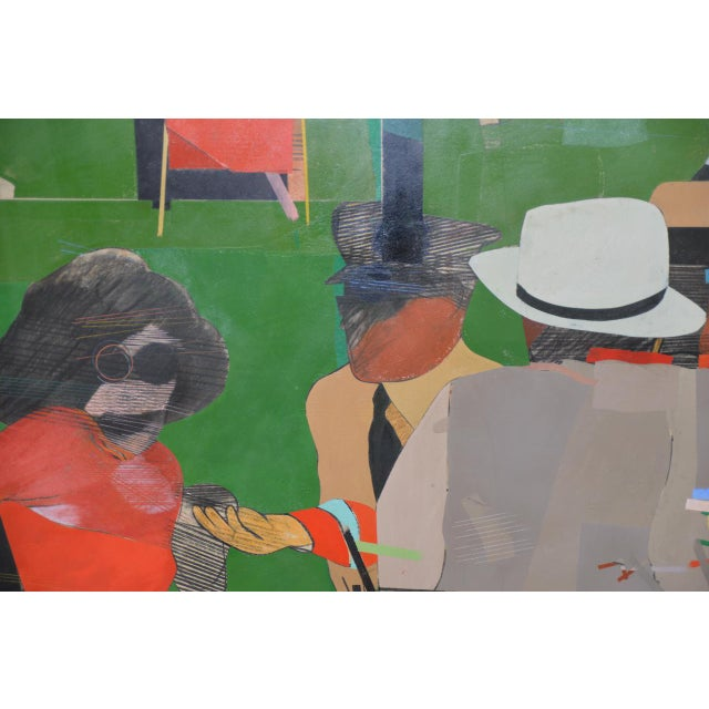 """Richard Merkin (1938-2009) """"Yamekraw, An Original Composition"""" Monumental Mixed Media Painting For Sale - Image 9 of 11"""