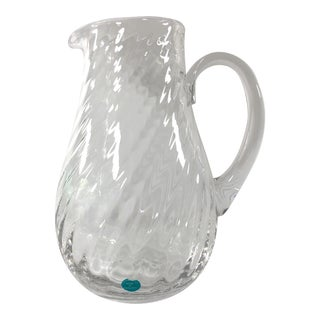 Tiffany & Co Optic Swirl Water Pitcher Made in England For Sale
