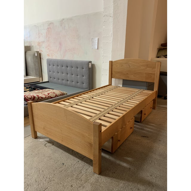 """Twin Size Pacific Rim """"The Classic"""" Solid Maple + Integrated Storage For Sale - Image 12 of 12"""