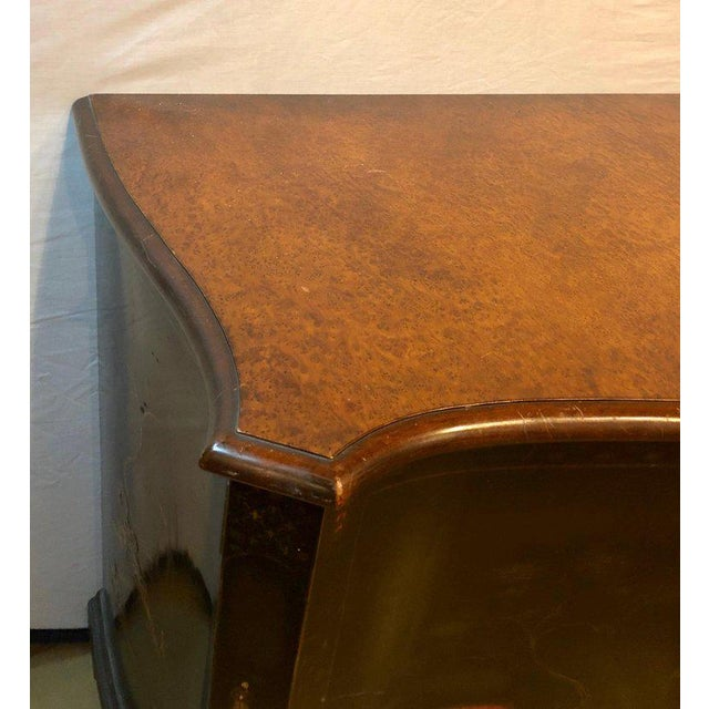 Fine Custom Quality Ebony Chinoiserie Commode or Cabinet Server For Sale - Image 4 of 13