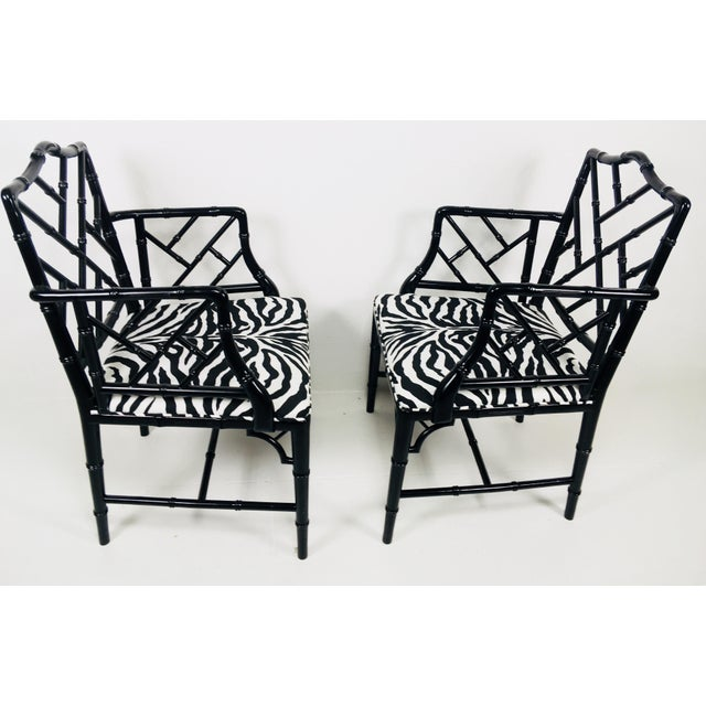Asian 1970s Chinese Chippendale Style Side Chairs – a Pair For Sale - Image 3 of 8