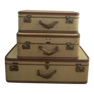 Vintage Loyal Suitcases - Set of 3 For Sale