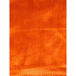 Vintage Strie Tangerine Velvet Fabric Sample For Sale
