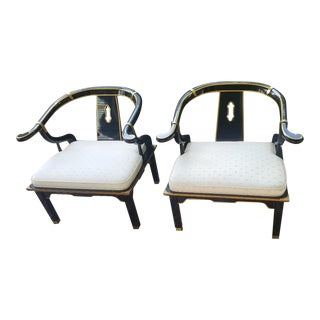 James Mont Horseshoe Chairs - A Pair