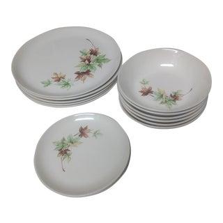 Vintage Maple Leaf Dishes - Set of 13
