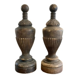 Pair of 19th Century Victorian Finials For Sale