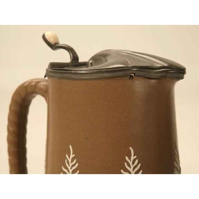 Ceramic 19th C. Antique English Polished Basalt Jug For Sale - Image 7 of 10