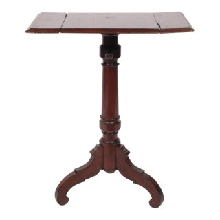 19th Century Walnut Victorian Drop Leaf Pedestal Table For Sale
