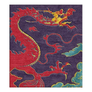 "Shivhon ""Ryu"" Dragon Hand-Tufted Area Carpet - 11' x 15' For Sale"