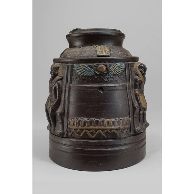Paint 1920s Japanese Egyptian Revival Tobacco Jar For Sale - Image 7 of 7