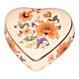Limoges Rochard France Trinket Jewelry Heart Box For Sale