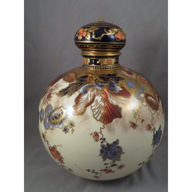 English Traditional 1889 Royal Crown Derby Victorian Imari Floral Lidded Ginger Jar For Sale - Image 3 of 13