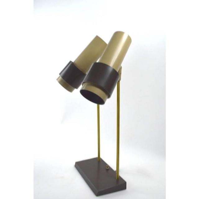 Gerald Thurston Thurston for Lightolier Two-Light Desk Lamp For Sale - Image 4 of 6
