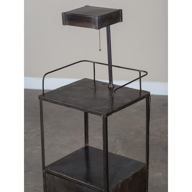 Vintage Industrial French Metal Cabinet with Light circa 1940 - Image 3 of 11