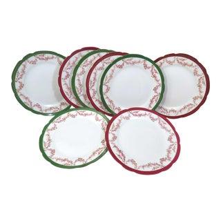 Antique Austrian Salad Plates, Set of 8 For Sale