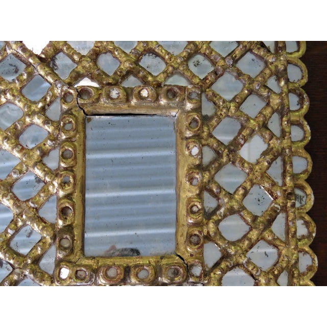 Early 20th Century Antique Accent Mirror For Sale - Image 5 of 10