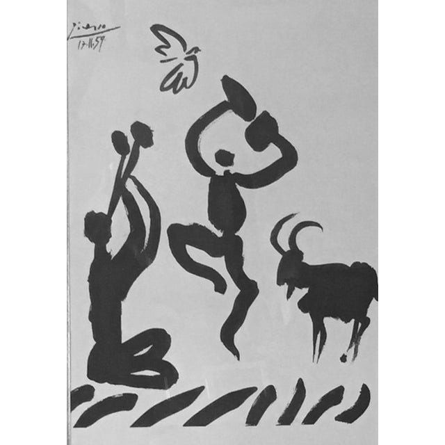 """1959 Picasso Lithograph """"Goat Dance"""" - Image 2 of 5"""