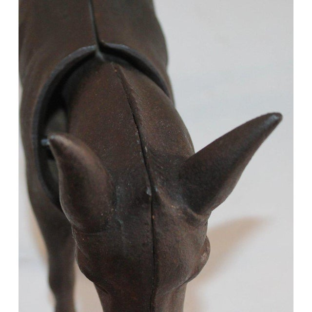Iron 19Thc Donkey Door Stop With Nodder Head For Sale - Image 7 of 10
