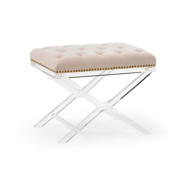 Modern Chelsea House Soho Tufted Bench For Sale - Image 9 of 9