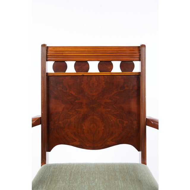 Wood Art Deco Burl Walnut Side Chair For Sale - Image 7 of 13
