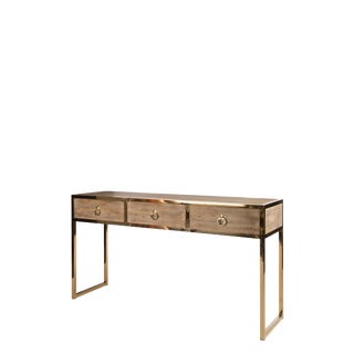 Statements By J Toretto Console Table With Gold Legs
