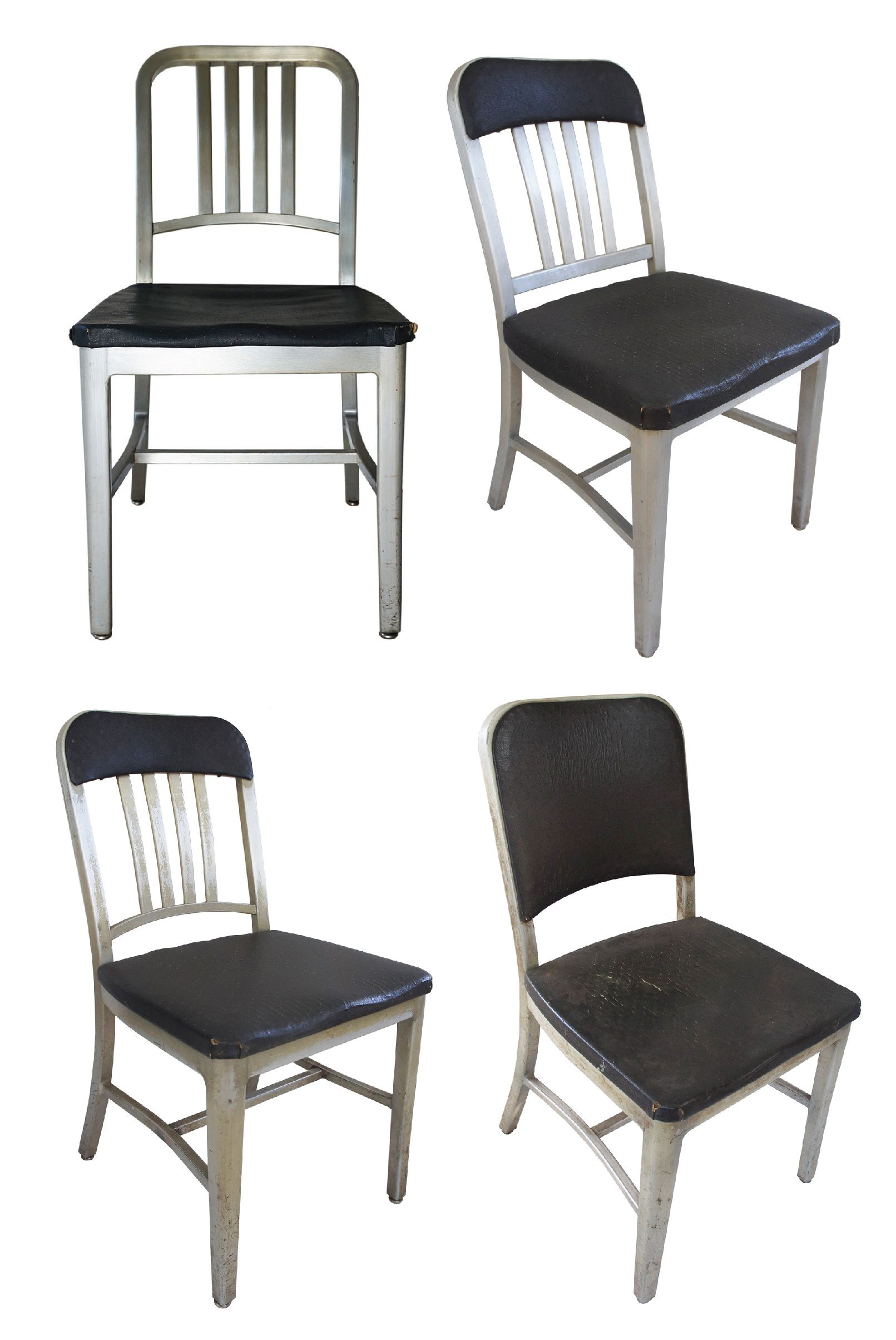 Emeco Aluminum Navy Chairs, Assorted   Set Of 4   Image 2 Of 5