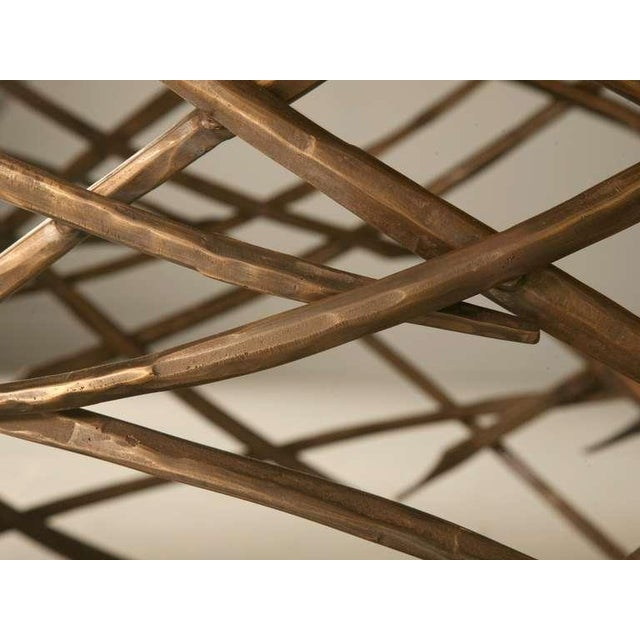 Custom-Made Woven Solid Bronze Table Base For Sale - Image 5 of 11