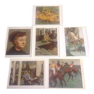 "Edgar Degas ""Skira Color"" Prints - Set of 6 For Sale"