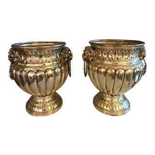 Vintage Silver Plated Wine Coolers - A Pair