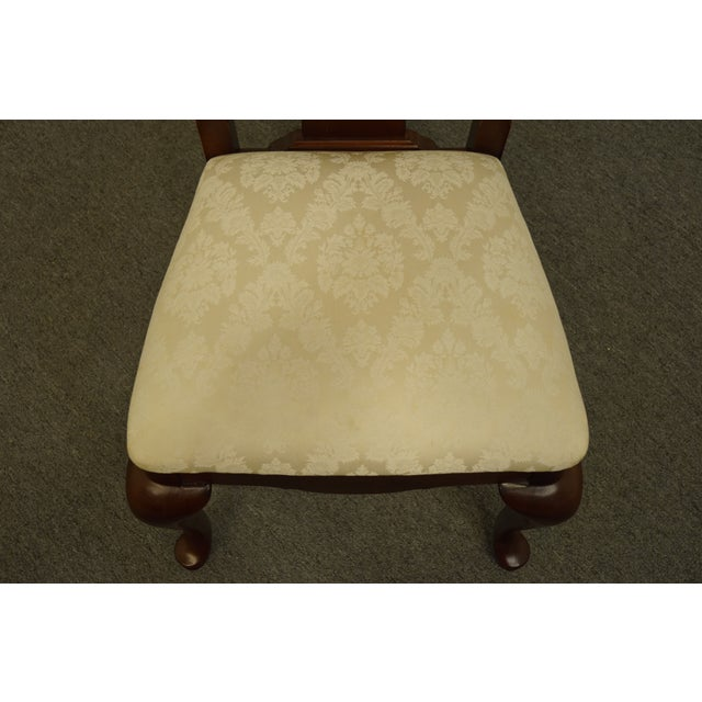 Late 20th Century Late 20th Century Thomasville Furniture Collectors Cherry Collection Dining Side Chair For Sale - Image 5 of 11