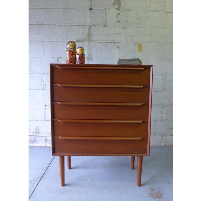 Teak Mid-Century Danish Modern Teak Dresser For Sale - Image 7 of 7