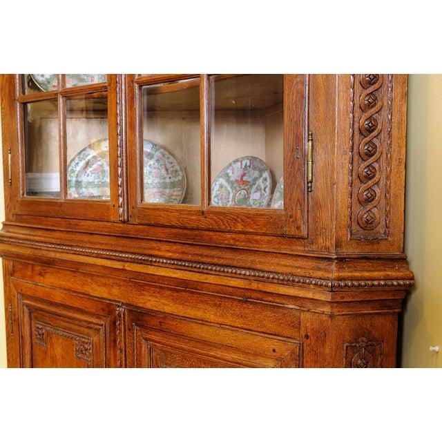 Antique Oak Corner cabinet For Sale - Image 4 of 10