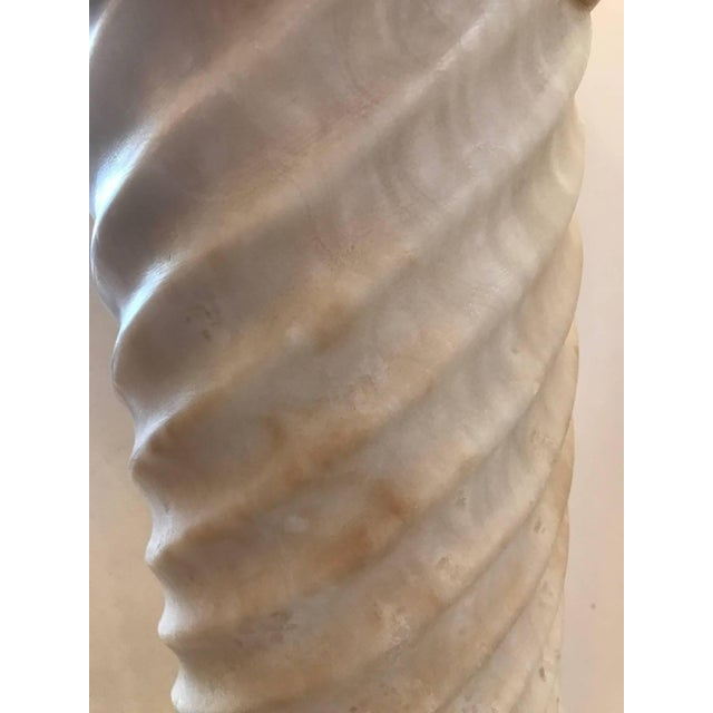 Late 19th Century Late 19th Century Italian Carved Marble Column Pedestal For Sale - Image 5 of 7