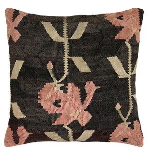 "Reclaimed Rose Vintage Kilim Pillow | 20"" For Sale"