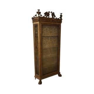 Antique 19th Century Russian Neo Classical Style Italian Gilt Vitrine Cabinet