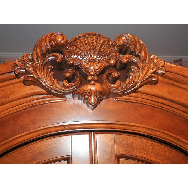 Luxury Cherry Tv Armoire & Dresser Set - Image 7 of 11