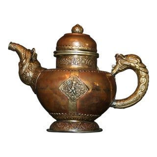 Antique Tibetan Copper & Brass Teapot