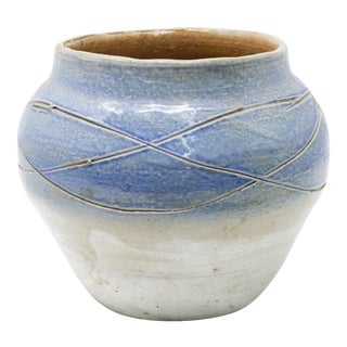 Hand-Thrown Clay Planter For Sale