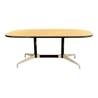 American Post-War Wood Veneer Conference Table For Sale