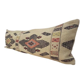 Wool Handwoven Kilim Pillow Cover For Sale