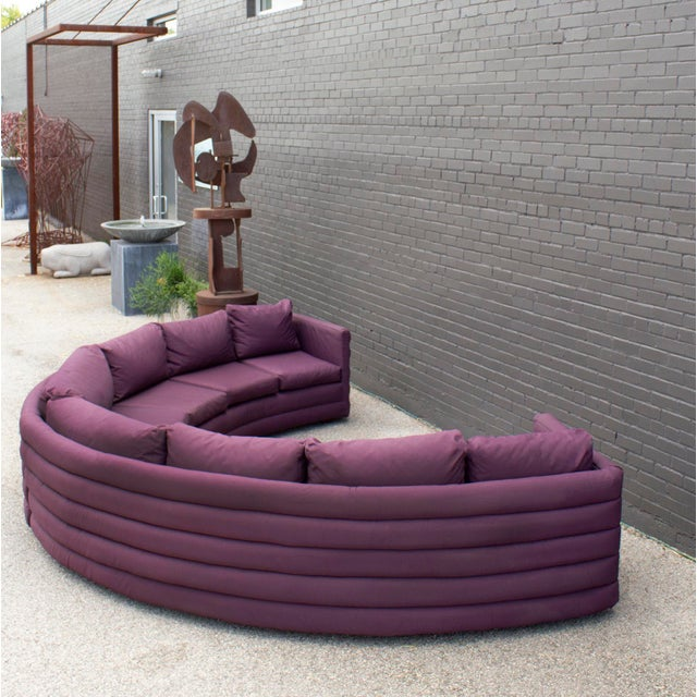 Milo Baughman for Thayer Coggin 1970s Channel Back Semi-Circular Sectional Sofa For Sale - Image 12 of 12