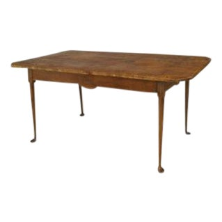 American Country (18th Cent) Queen Anne style rectangular dining table