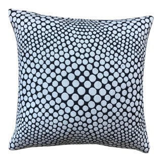 Optic Jewel White on Black Pillow For Sale